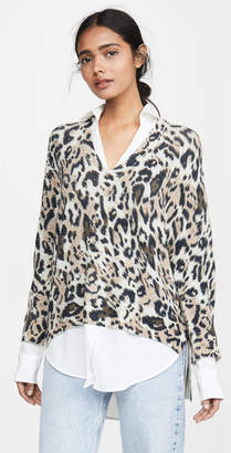 Brochu Walker Printed Layered V Neck