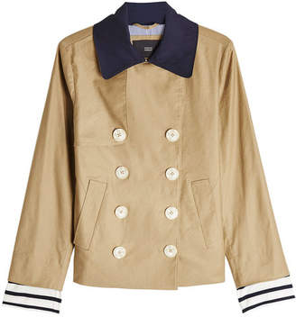 Steffen Schraut Double Breasted Jacket with Linen and Cotton