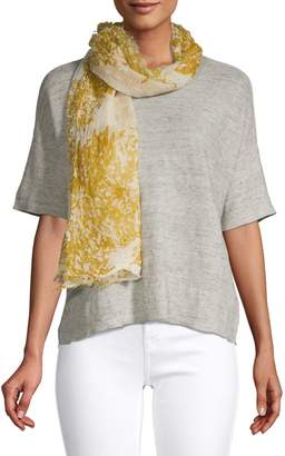 Eileen Fisher Printed Cotton Scarf