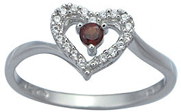 Precious Moments Sterling Silver Birthstone Collection Ring - Created Sapphire