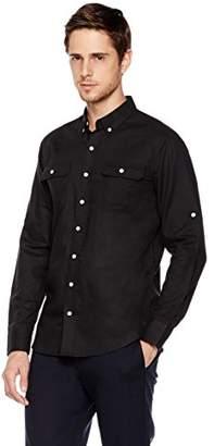 Isle Bay Linens Slim-Fit Long-Sleeve Cargo Shirt L