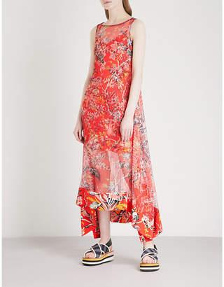 Diane von Furstenberg Asymmetric floral-print crepe midi dress
