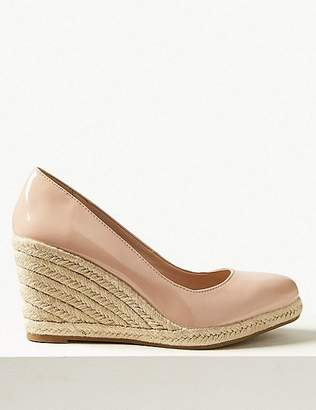 Marks and Spencer Leather Wedge Heel Almond Toe Espadrilles