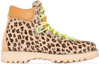 Diemme brown and black Leopard Print Boots