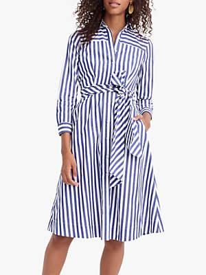 J.Crew Sybil Tie Waist Shirt Dress, Tushar Stripe Lighthouse