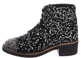 Chanel Fantasy Tweed Ankle Boots