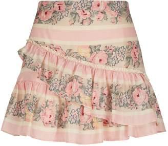 LoveShackFancy Love Shack Fancy Piper Ruffle Mini Skirt