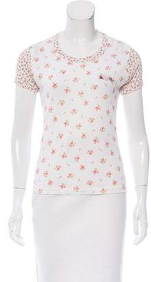 Rodarte Embroidered Floral T-Shirt