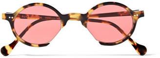 Acne Studios Scientist Round-frame Acetate Sunglasses - Yellow