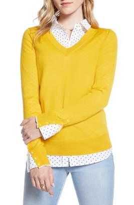 1901 V-Neck Merino Wool Blend Sweater