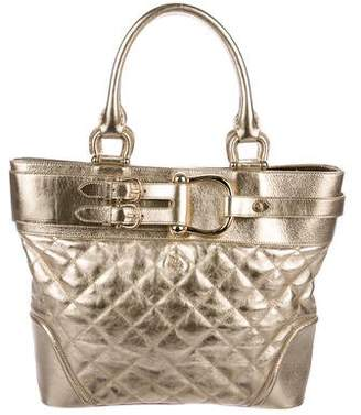 Burberry Metallic Quilted Leather Tote