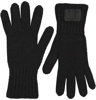Prada Wool Rib Knit Gloves