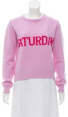 Alberta Ferretti Rib Knit Wool Sweatert