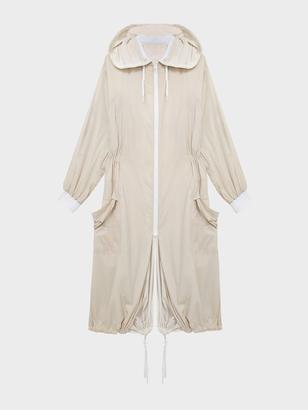 DKNY Pure Reversible Oversized Nylon Hooded Coat $898 thestylecure.com