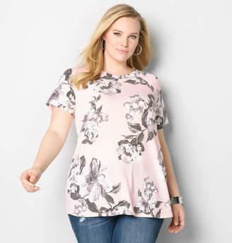 Avenue Pink Floral Sweatshirt