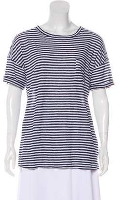 Frame Linen Stripes Oversize T-Shirt