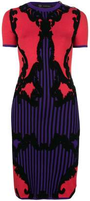 Versace intarsia-knit dress