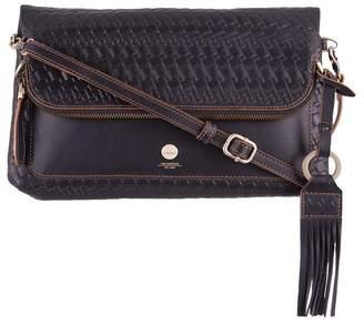 Lodis Rodeo Woven RFID Aphra Zip Flap Crossbody Bag