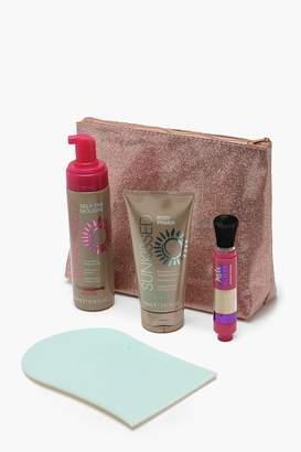 boohoo Sunkissed 5 Piece Glow Tanning Kit