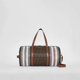 quality design a9621 af788 Burberry Medium Monogram Stripe E-canvas Barrel Bag