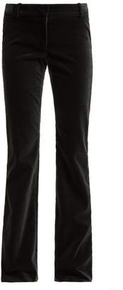 Raey Flared Velvet Trousers - Womens - Grey