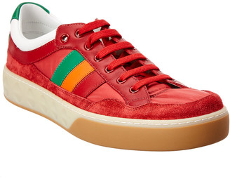 Gucci G74 Web Leather Sneaker