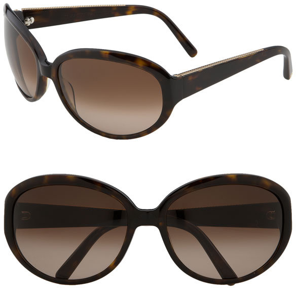 David Yurman Cabled Oval Frame Sunglasses