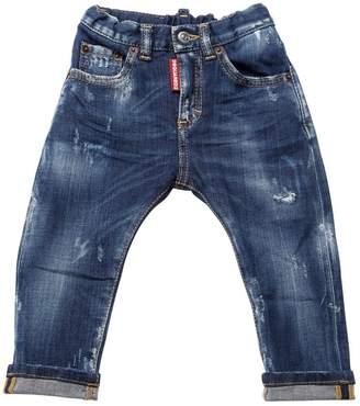 DSQUARED2 Distressed Stretch Denim Jeans
