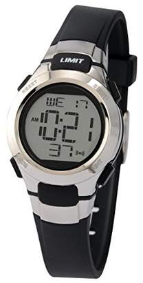 Limit 6676.24 Black Girl's Digital Watch with Shiny Metal Bezel and Black Strap