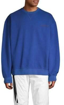 Unravel Project Cotton Terry Crewneck Sweatshirt