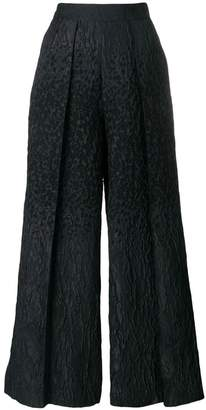 Talbot Runhof pebbled wide-leg trousers