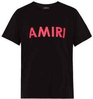 Amiri Logo Print Cotton T Shirt - Mens - Multi