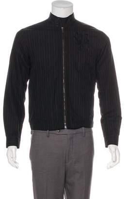 Dries Van Noten Striped Embroidered Jacket
