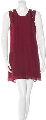 Rebecca Minkoff Silk Bead-Embellished Dress