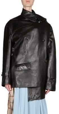 Balenciaga Asymmetric Leather Jacket