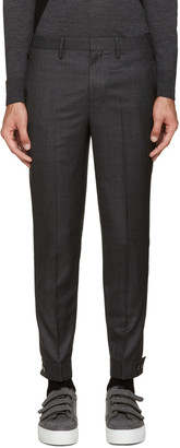 Neil Barrett Grey Wool Trouser $525 thestylecure.com