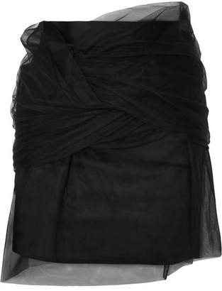 Y/Project Twisted Tulle And Satin Mini Skirt - Black