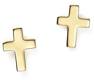 Bloomingdale's 14K Yellow Gold Medium Cross Stud Earrings - 100% Exclusive