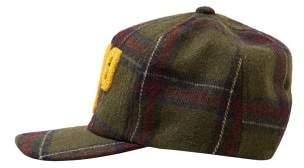 MANGO Check wool-blend cap