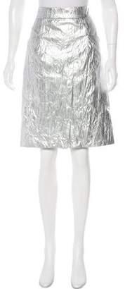 Chanel Metallic Knee-Length Skirt