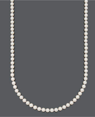 "Belle de Mer Pearl Necklace, 36"" 14k Gold A+ Cultured Freshwater Pearl Strand (7-1/2-8mm)"