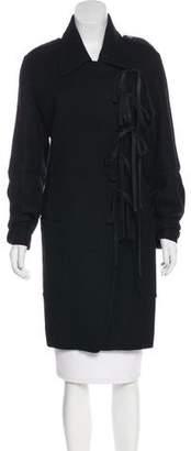 Ann Demeulemeester Knee-Length Wool Coat
