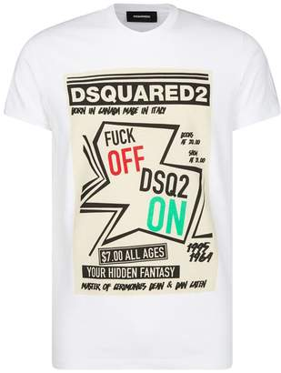 DSQUARED2 Cotton Poster Print T-Shirt