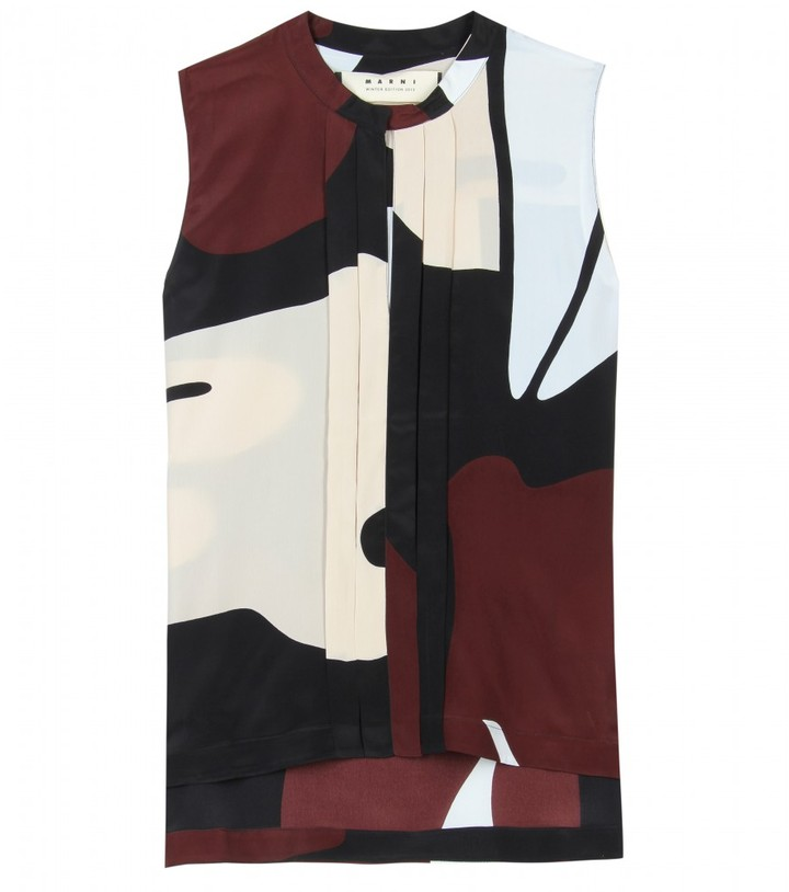 Marni Edition PRINTED CREPE TOP