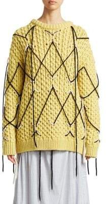 Calvin Klein Zigzag Wool Mohair Knit Sweater