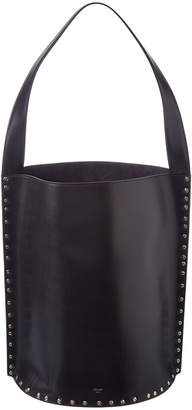 Celine Large Studs Satinated Leather Bucket Bag