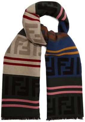 Fendi Wool-blend logo scarf
