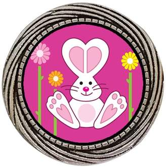 GiftJewelryShop Ancient Style Silver Plate Cartoon Theme Winding Pattern Pins Brooch, Bunny Love Easter