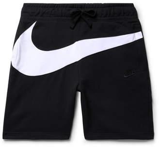 Nike Slim-Fit Logo-Panelled Loopback Cotton-Blend Jersey Shorts