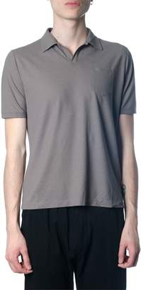Zanone Cotton Polo Shirt In Mud Color